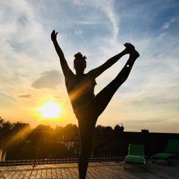 Sonnenuntergang Yoga