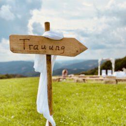 Freie Trauzeremonie auf dem Berg